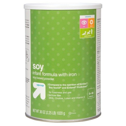 soy infant formula with iron by up&up